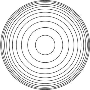 Concentric Circles Clip Art.