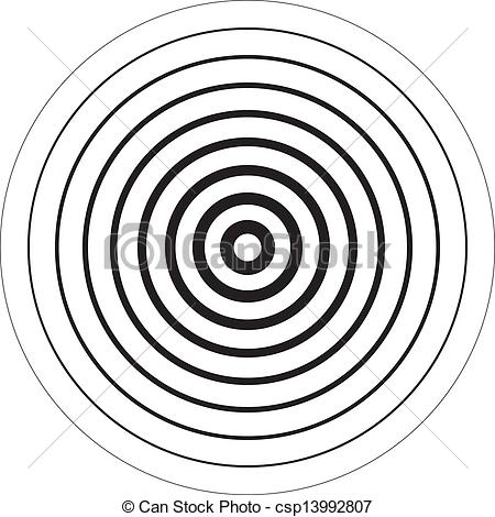 Vector Clipart of Concentric circles 3D sugestion background.
