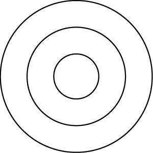Three Concentric Circles Clip Art.