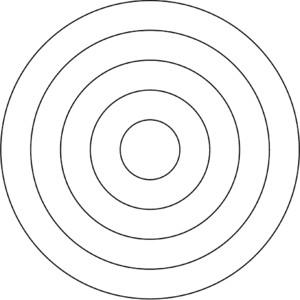 Clip Art 11 Concentric Circles.