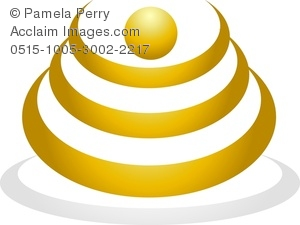 Clip Art Image of a Logo Design Element Concentric Circles.