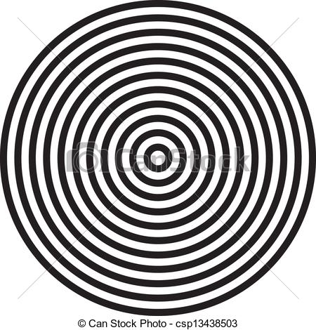 Vector Clipart of concentric circles background csp13438503.