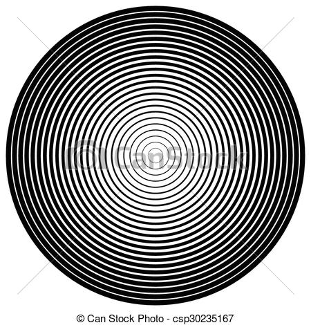 Clip Art Vector of Abstract circle element. Concentric circles.