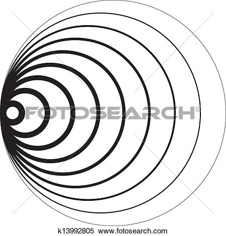 Clipart of Concentric circles 3D perspective sugestion background.