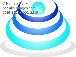 Clip Art Image of a Logo Design Element Concentric Circles.