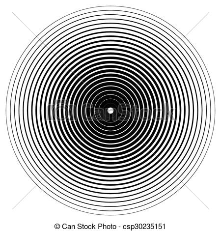 Clipart Vector of Abstract circle element. Concentric circles.