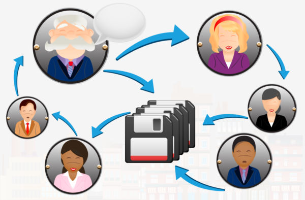 Business networking concept clip art.