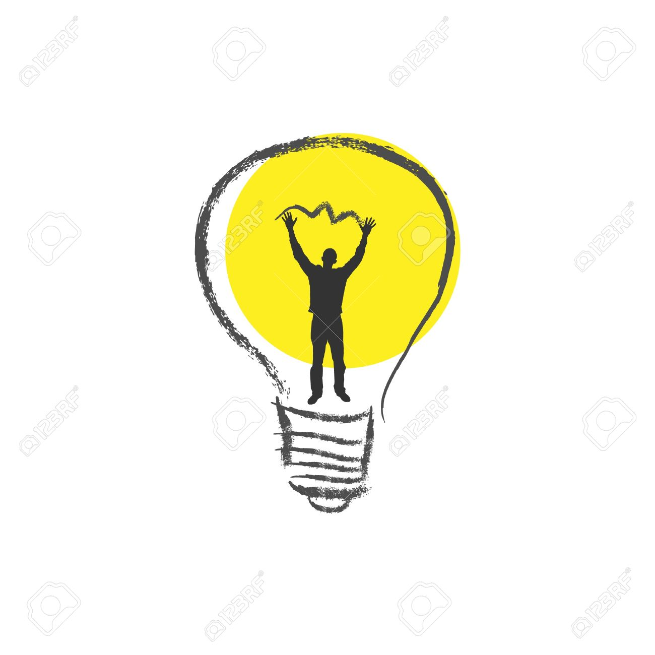 Light Bulb. The Concept Of Idea. Royalty Free Cliparts, Vectors.
