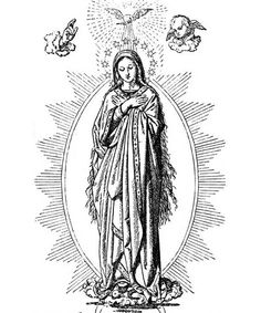 Immaculate conception clipart.