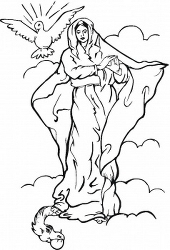 Conception of Mary Clip Art.