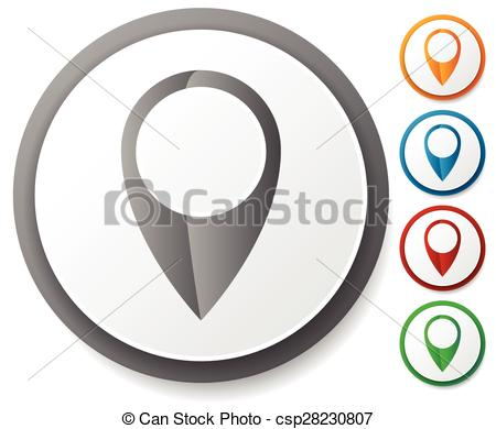 Vector Clipart of Map marker / map pin icon set. Location.