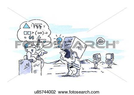 Clip Art of Unclear instructions, conceptual artwork u85744002.