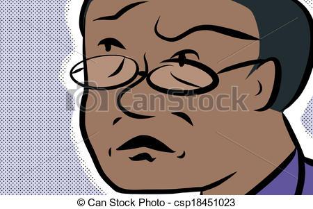Vector Illustration of Concerned Man.