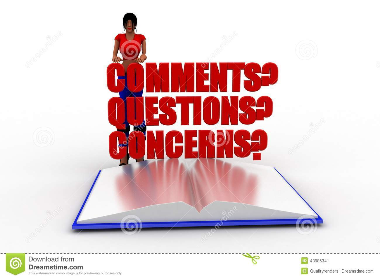 Questions Comments Concerns Clipart.