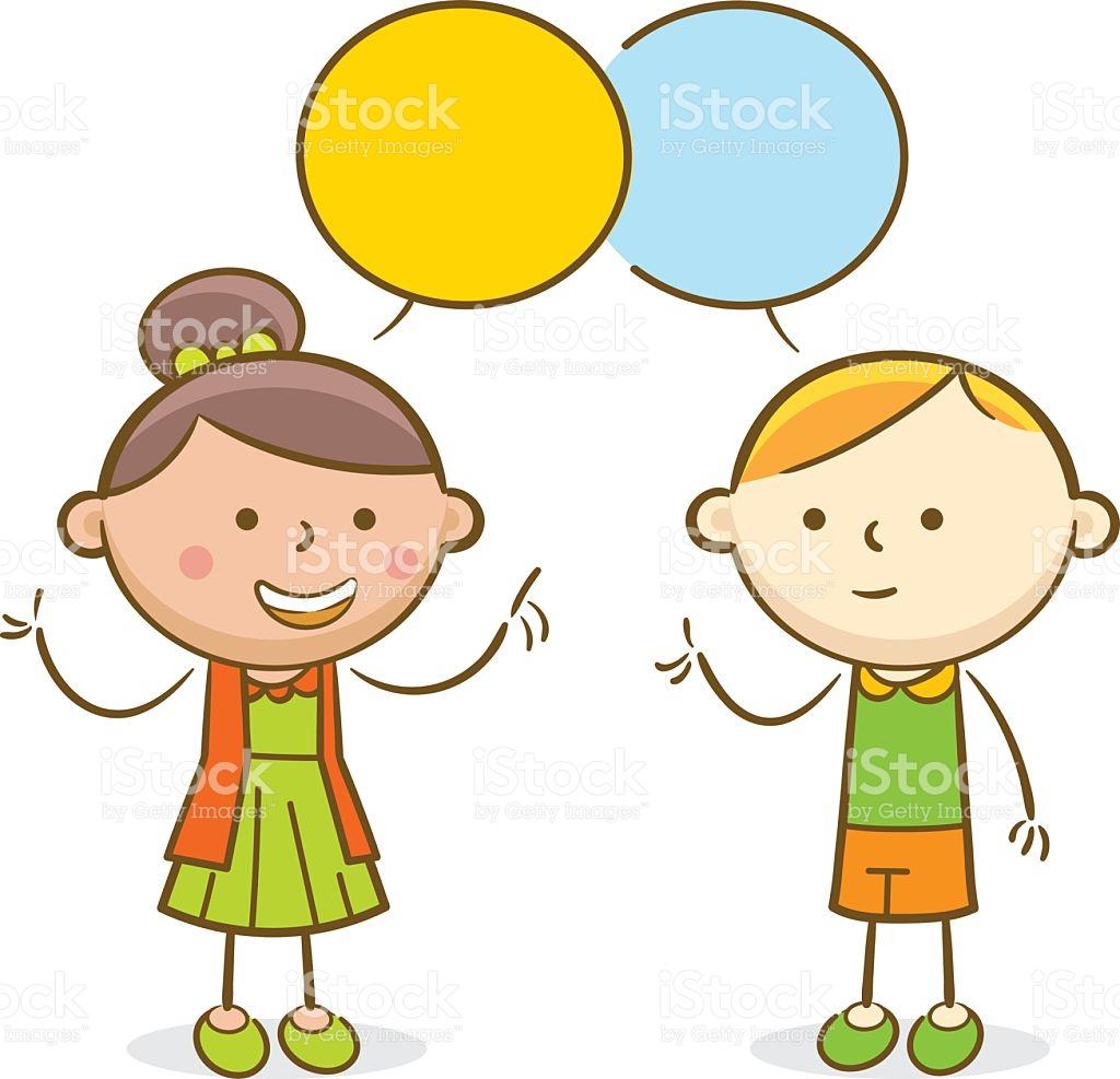 Kids Conversation Clipart.