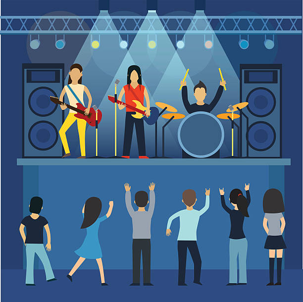 Best Popular Music Concert Illustrations, Royalty.