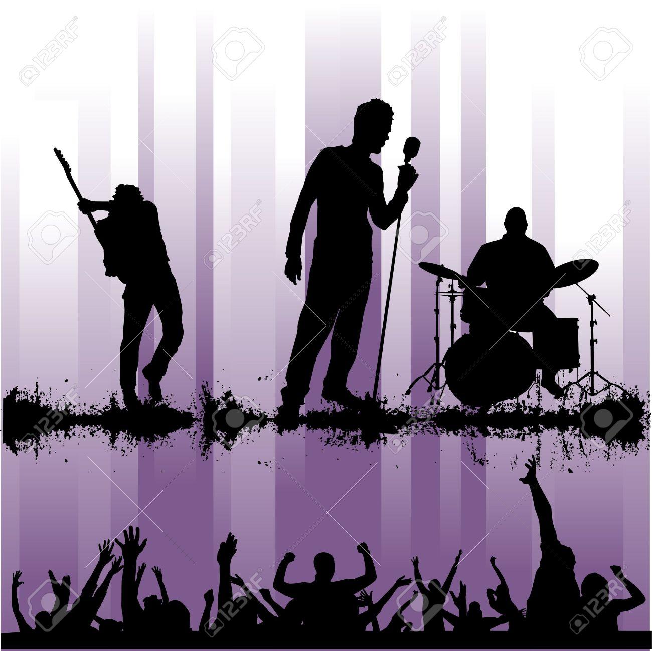 Rock Concert Clip Art.