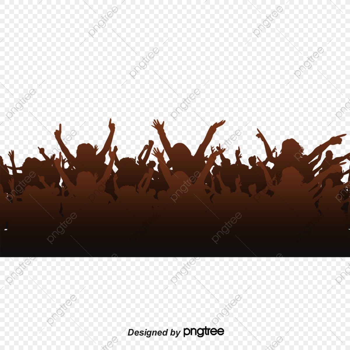 Crowd, Concert, Cheer, People PNG Transparent Clipart Image and PSD.