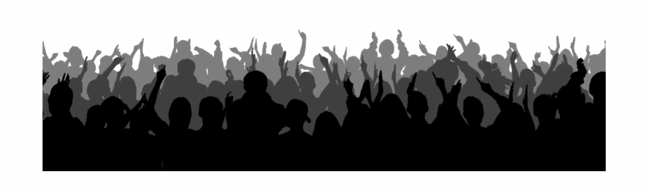 Silhouette Crowd Background Png Image.