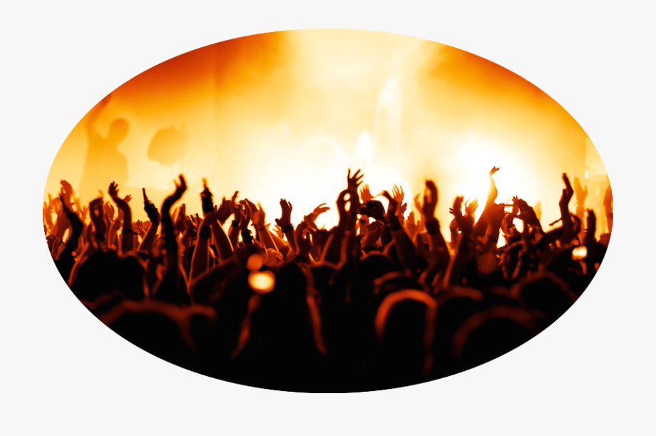 Concert Crowd Png Transparent Background.