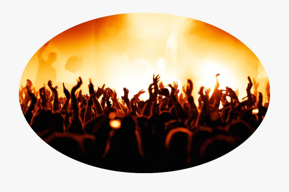 Concert Crowd Png Transparent Background.