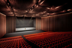 Concert Hall Seating Royalty Free Stock Photo.