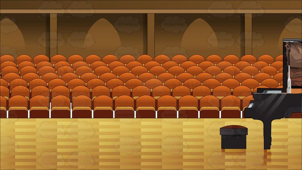 Interior Concert Hall Background Cartoon Clipart.