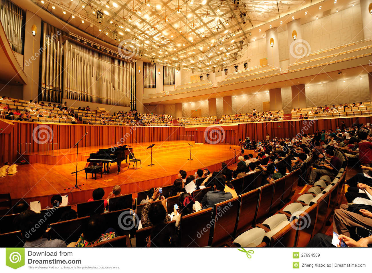 Concert Hall Of China National Grand Theater Editorial Stock Image.