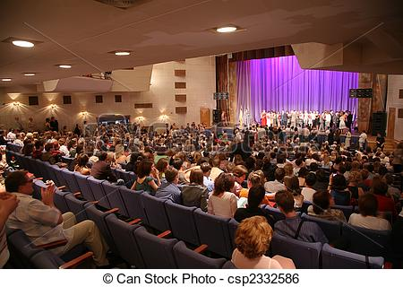 Stock Image of people in the concert hall csp2332586.