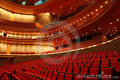 Concert Hall Of China National Grand Theater Editorial Stock Photo.