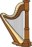 Harp clip art Free Vector.