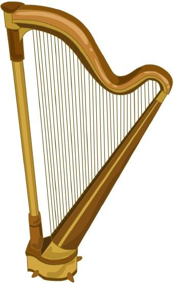 Harp clip art.