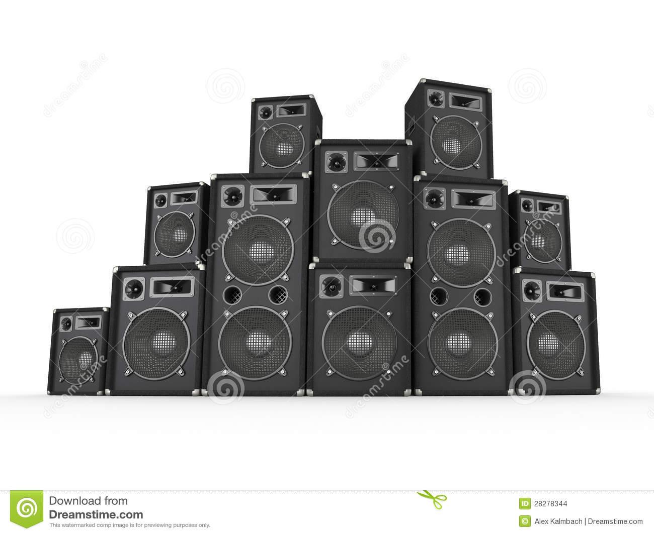 Speaker Stack stock illustration. Illustration of background.