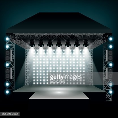Concert Stage With Vector Illustration premium clipart.
