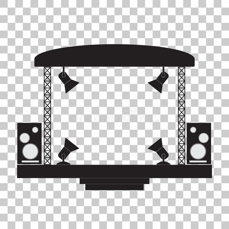 Concert Stage Stock Illustrations.