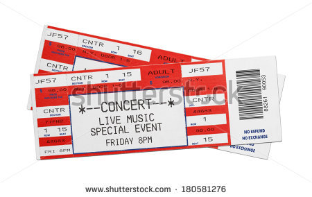 Concert tickets clipart 2 » Clipart Station.