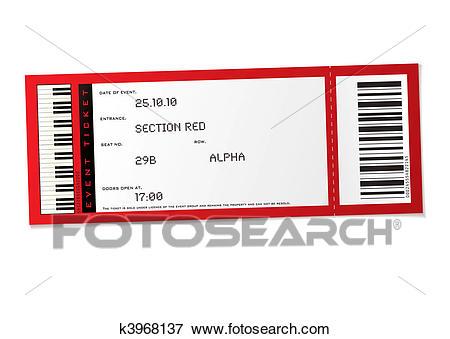 Concert event ticket Clip Art.