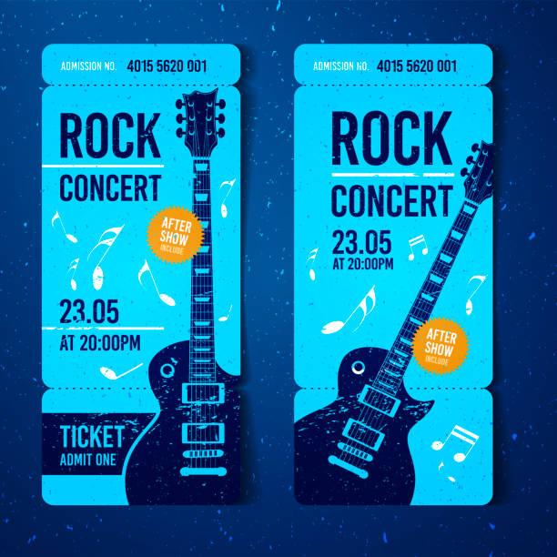 Best Concert Ticket Illustrations, Royalty.