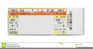 Clipart Concert Ticket Stub.