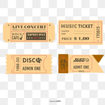 Concert Ticket Png, Vector, PSD, and Clipart With Transparent.