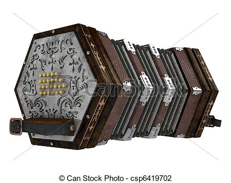 Clip Art of Concertina isolated on white background csp6419702.