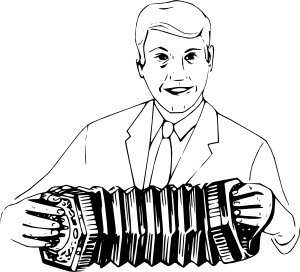 Man Playing Concertina clip art Free Vector / 4Vector.