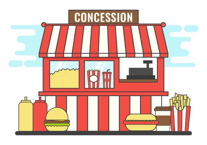 Concession Stand Food Clipart.