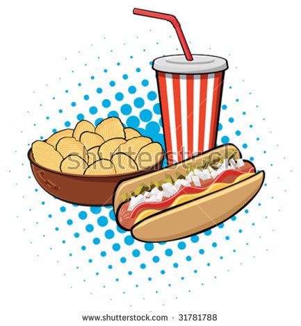 Free collection of Chips clipart concession food. Download.