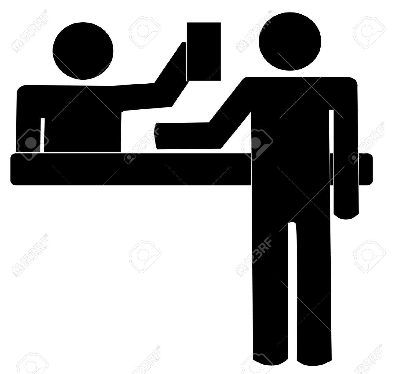 Concierge icon clipart.