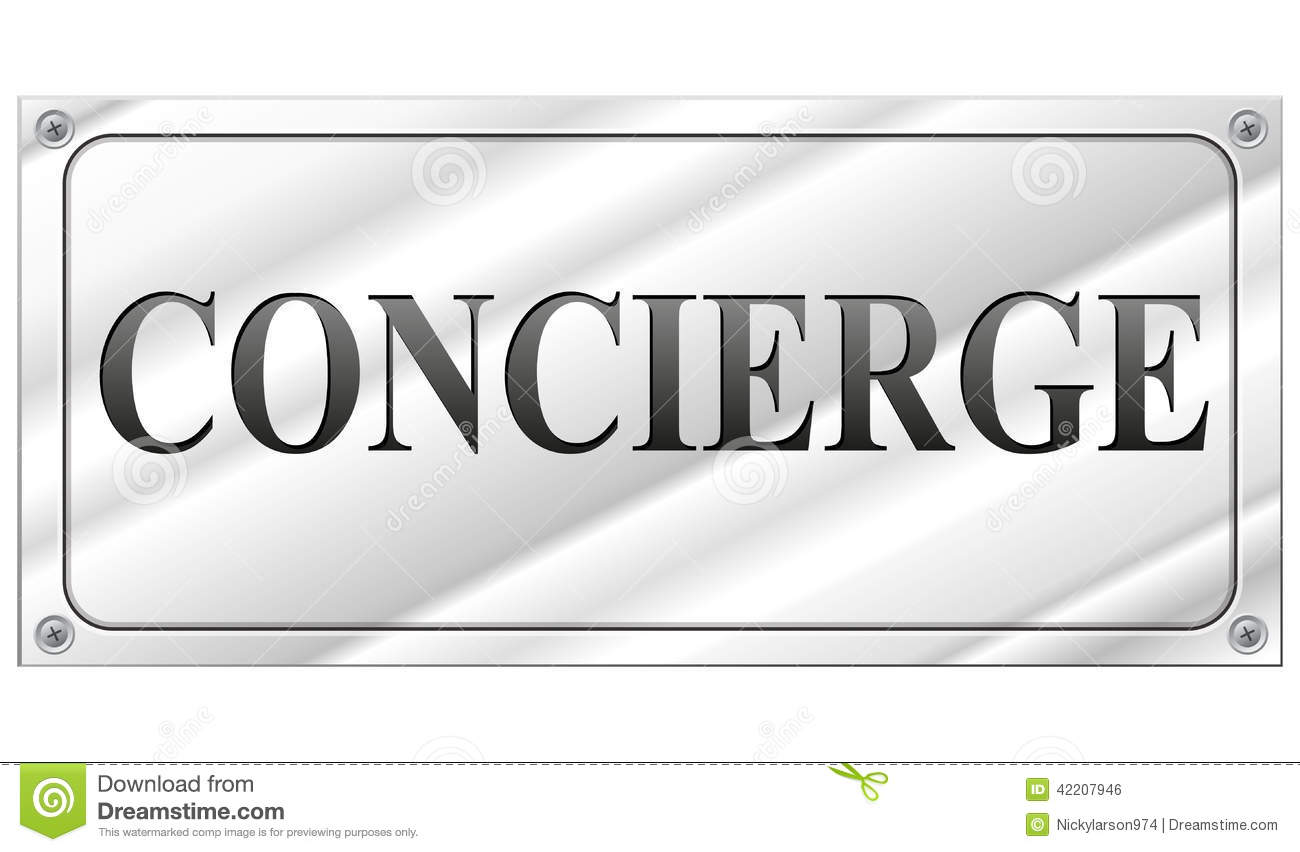 Concierge Stock Illustrations.