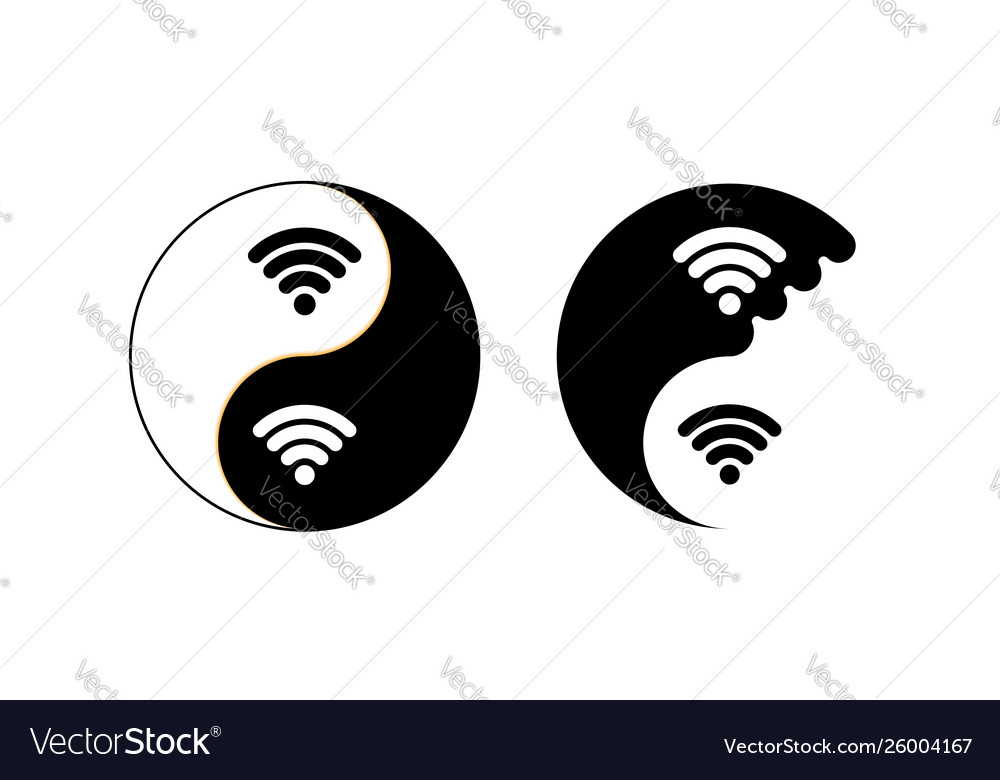Yin and yang for internet yoga sign icon mandala vector image.