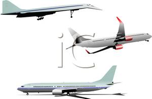 Concorde Jet and Commercial Airliners.