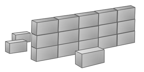 Cement block clipart.