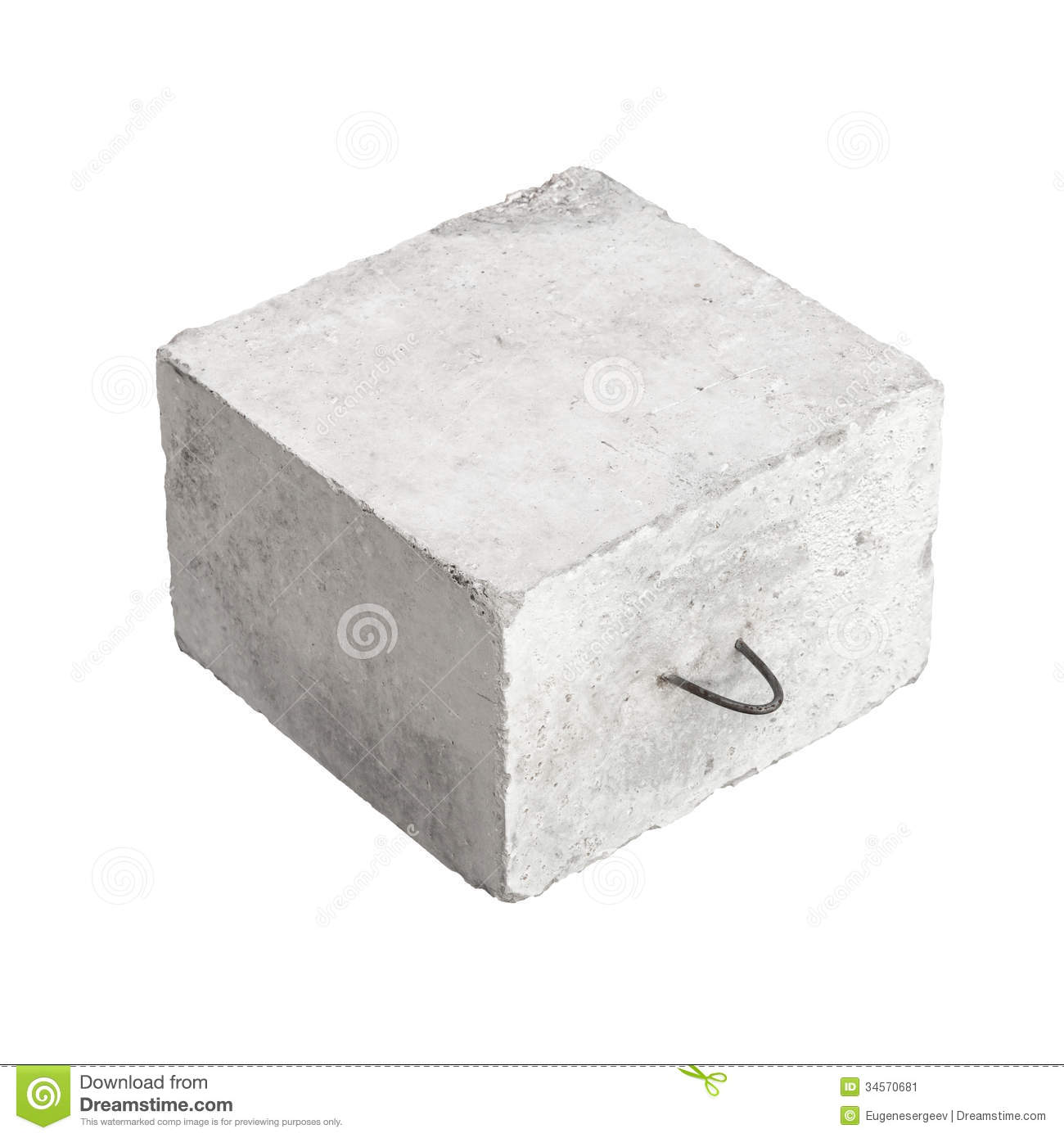 Big Concrete Block Texture Stock Photo.